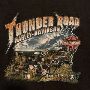Harley Davidson black t shirt, size XL